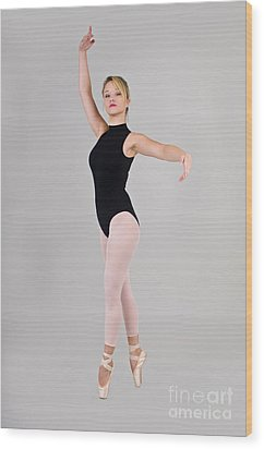 Female Dancer Wood Print by Ilan Rosen