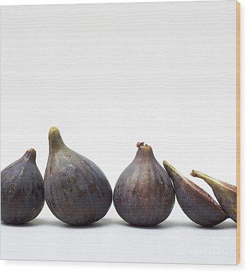 Figs Wood Print by Bernard Jaubert