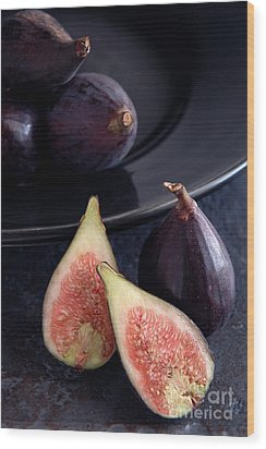 Figs Wood Print by HD Connelly