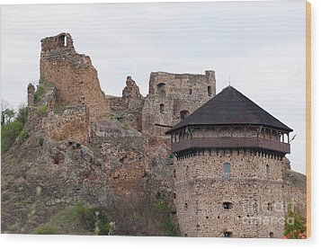 Wood Print featuring the photograph Filakovo Hrad - Castle by Les Palenik