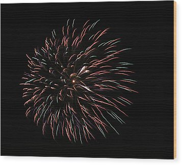 Fireworks Fun 3 Wood Print by Marilyn Hunt