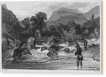 Fishing, 19th Century Wood Print by Granger