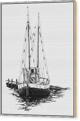 Fishing Boat Wood Print by Kelly Morgan
