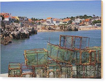 Fishing Traps Wood Print by Carlos Caetano