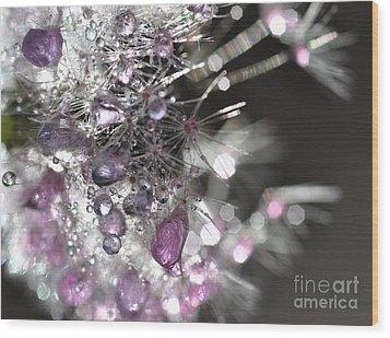 Wood Print featuring the photograph Fleur De Cristal by Sylvie Leandre