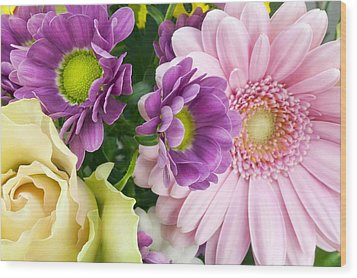 Floral Spring Background Wood Print