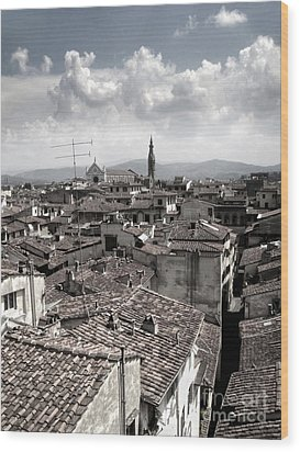 Florence Italy - 02 Wood Print by Gregory Dyer