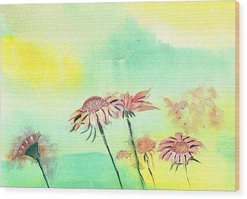 Flowers 2 Wood Print by Anil Nene