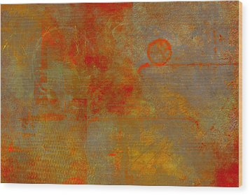 Fluorescent Rust Wood Print by Christopher Gaston