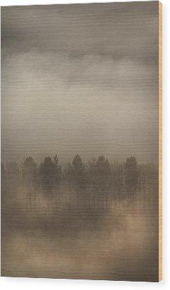 Fog Wall Wood Print by Andy Astbury