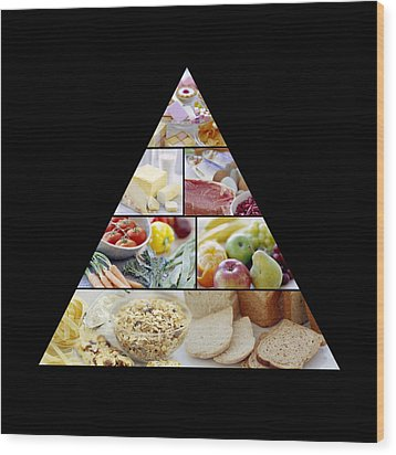 Food Pyramid Wood Print by David Munns