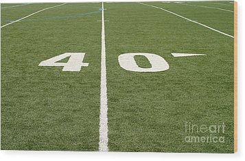 Wood Print featuring the photograph Football Field Forty by Henrik Lehnerer