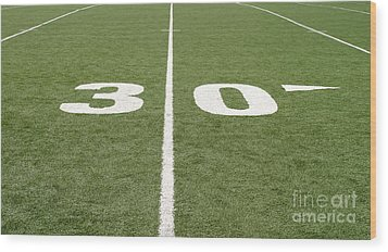 Wood Print featuring the photograph Football Field Thirty by Henrik Lehnerer