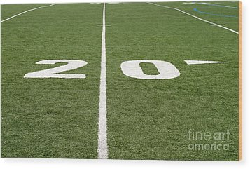 Wood Print featuring the photograph Football Field Twenty by Henrik Lehnerer