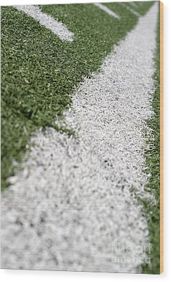 Wood Print featuring the photograph Football Lines by Henrik Lehnerer