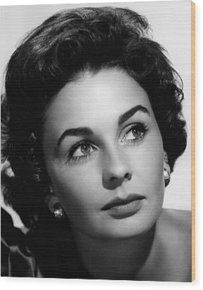 Footsteps In The Fog, Jean Simmons, 1955 Wood Print by Everett