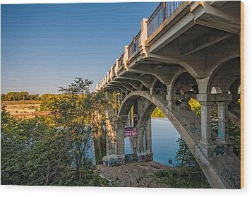 Wood Print featuring the photograph Ford Parkway Bridge by Tom Gort