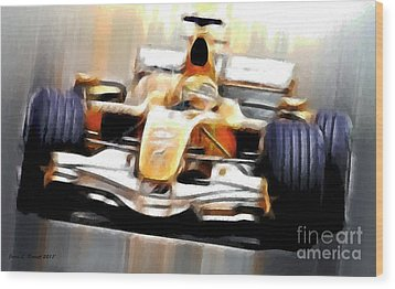 Formula One Wood Print by Jerry L Barrett