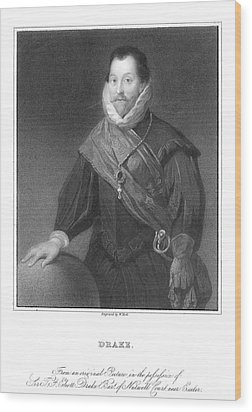 Francis Drake (1540?-1596) Wood Print by Granger