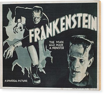 Frankenstein, Boris Karloff, 1931 Wood Print by Everett