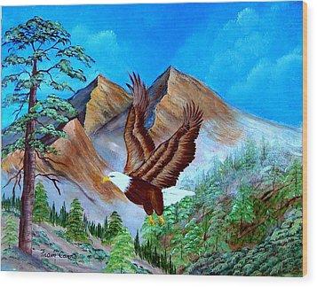 Freedom Flight Wood Print by Fram Cama