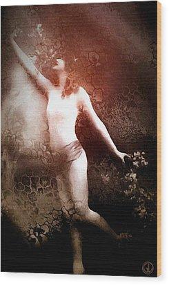 French Postcard Wood Print by Gun Legler