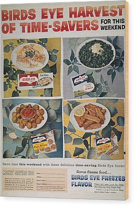 Frozen Food Ad, 1957 Wood Print by Granger