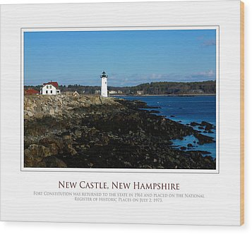 Ft Constitution - Nh Seacoast Wood Print by Jim McDonald Photography