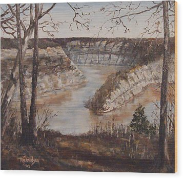 Wood Print featuring the painting Full Of Spring by George Richardson