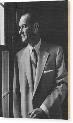 Future President Lyndon Johnson Wood Print by Everett