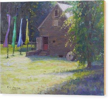 Gallery At Prallsville Mill Wood Print by Kit Dalton