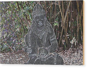 Wood Print featuring the photograph Garden Goddess by Donna  Smith