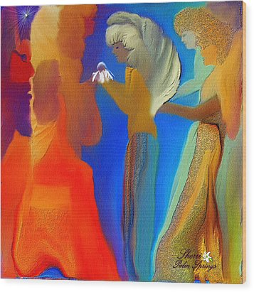 Gathering Of Angels Wood Print by Sherri's Of Palm Springs