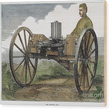 Gatling Gun, 1872 Wood Print by Granger