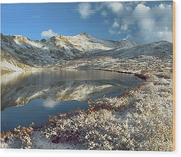 Geissler Mountain And Linkins Lake Wood Print by Tim Fitzharris