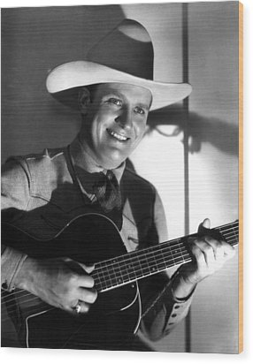 Gene Autry, C. 1940s Wood Print by Everett