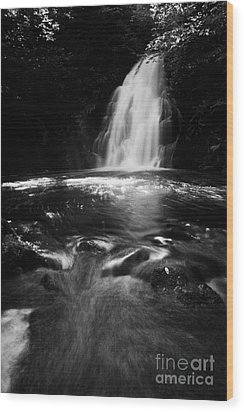 Gleno Or Glenoe Waterfall County Antrim Northern Ireland Uk Wood Print by Joe Fox