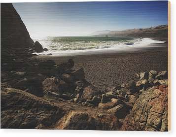 Goat Rock Beach Wood Print