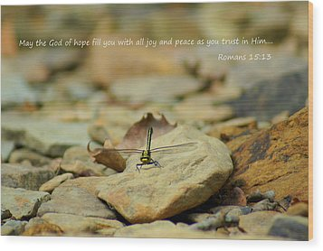 God Of Hope Wood Print by Naturevine Photography