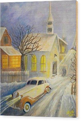 Going Home Wood Print by Renate Nadi Wesley