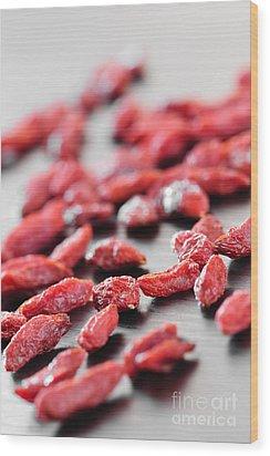 Goji Berries Wood Print by Elena Elisseeva