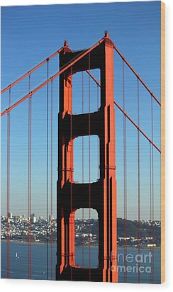 Golden Gate  Wood Print by Kim Pascu