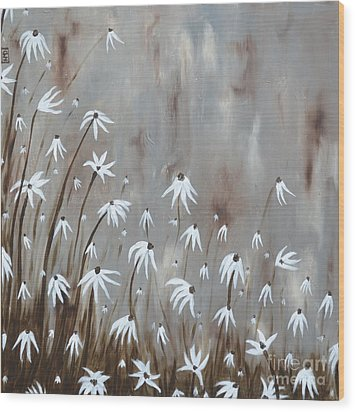 Gossamer Field Wood Print by Holly Donohoe