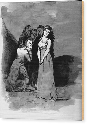 Goya Copy Wood Print by Sarah Farren