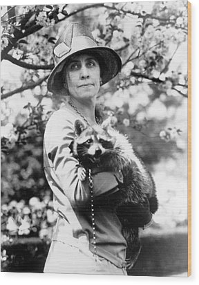 Grace Coolidge 1879-1957, First Lady Wood Print by Everett