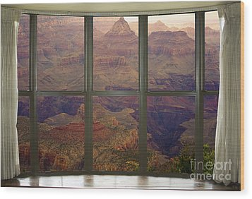 Grand Canyon Springtime Bay Window View Wood Print by James BO  Insogna