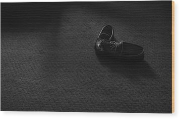 Grandpa's Slippers Wood Print by Tristan Bosworth
