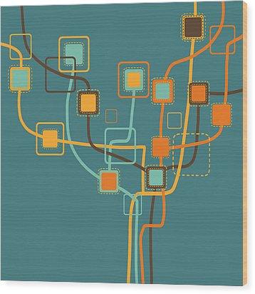 Graphic Tree Pattern Wood Print by Setsiri Silapasuwanchai