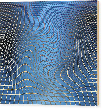 Gravity Waves In Space-time, Artwork Wood Print by Victor De Schwanberg