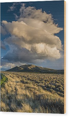 Great Basin Cloud Wood Print by Greg Nyquist
